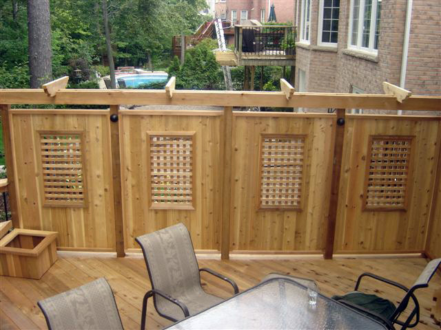 Privacy Screens Burlington Oakville Mississauga Ontario